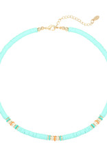 With love Necklace ride the waves - aqua