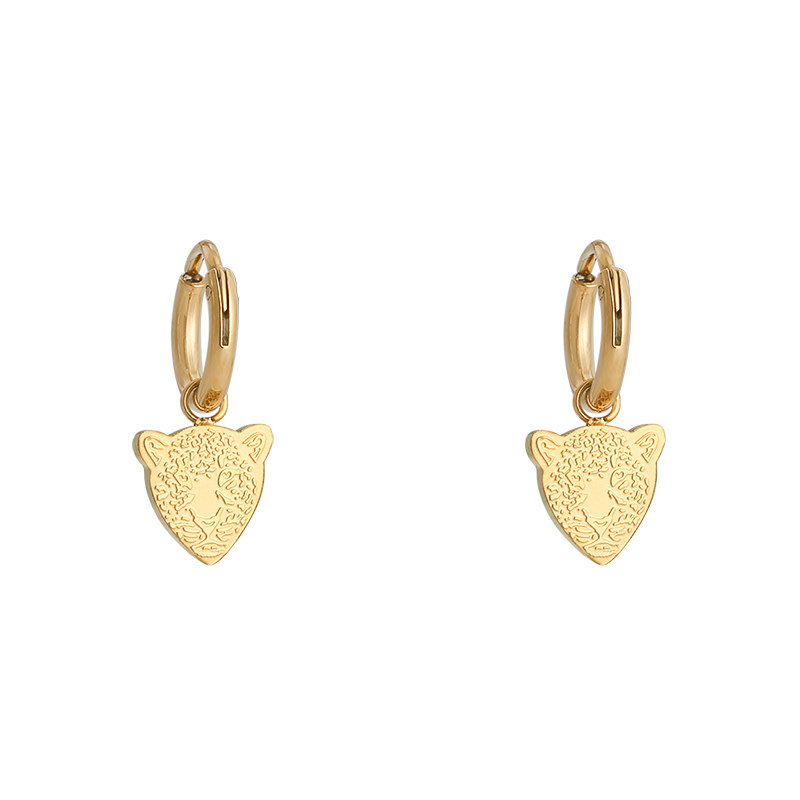 With love Earrings famous leopard gold