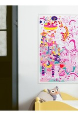 OMY Omy coloring poster 100 x 70 Lily