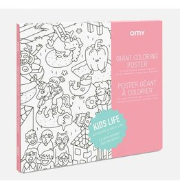 OMY Omy coloring poster 100 x 70 Kids life