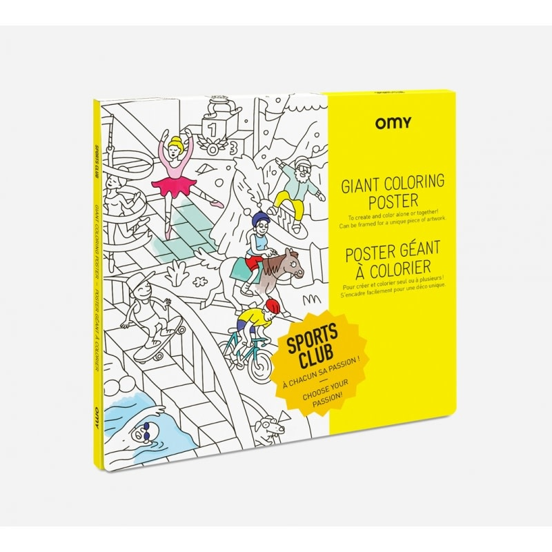 OMY Omy coloring poster 100 x 70 Sport club