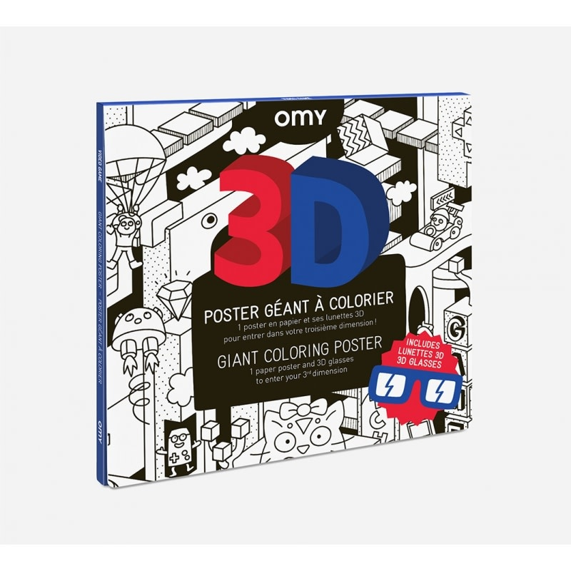 OMY Omy coloring poster 100 x 70 3D video games