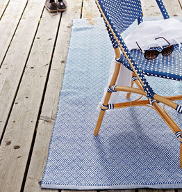 Liv Interior Poly runner Lacis denim / white 70 x 190 cm