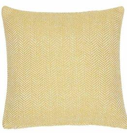 Liv Interior PET outdoor cushion Herringbone yellow 45 x 45 cm