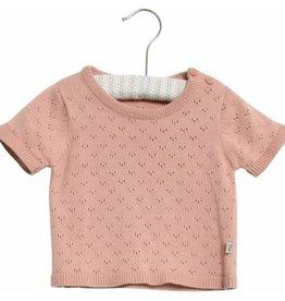 Wheat Knit top Lily - misty rose