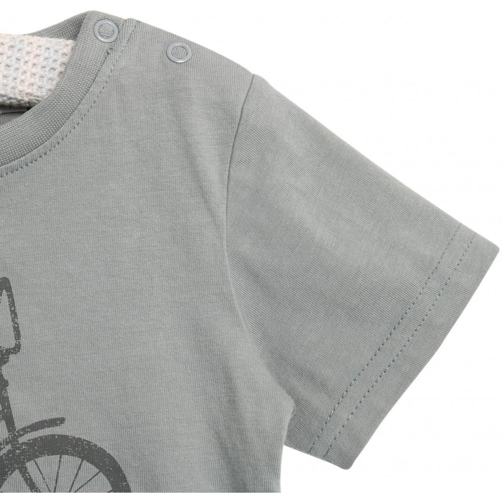 Wheat T-shirt bike - lead blue