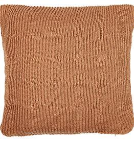 Liv Interior PET outdoor cushion knit terracotta 45 x 45 cm