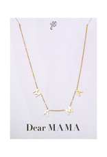 With love Necklace Dear mama
