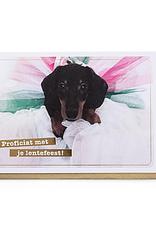 Enfant Terrible Enfant Terrible card  + enveloppe 'proficiat met je lentefeest - teckel'