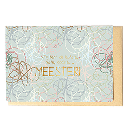 Enfant Terrible Enfant Terrible card  + enveloppe 'Coolste meester'