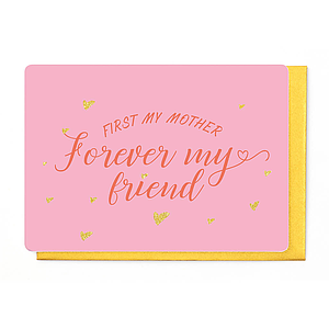 Enfant Terrible Enfant Terrible card + enveloppe 'First my mother, forever my friend'