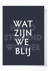 Papette Papette greeting card 'Wat zijn we blij'