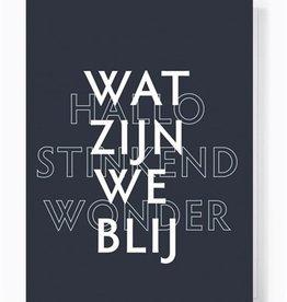 Papette Papette greeting card love 'Wat zijn we blij'