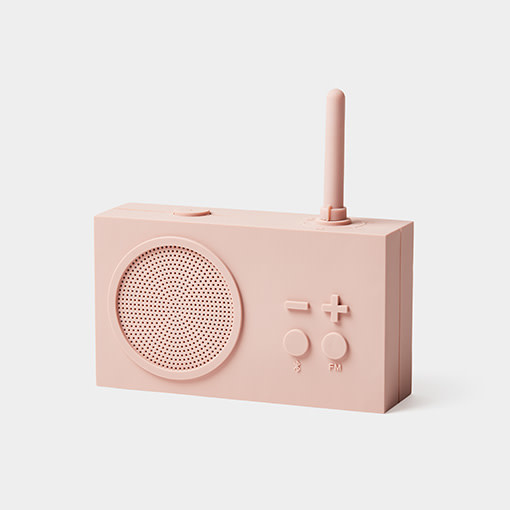 Lexon Tykho bluetooth speaker / FM radio Pink