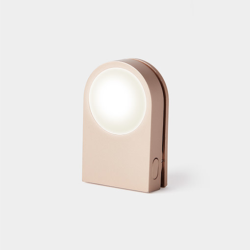 Lexon Lucie rechargeable clip light - gold
