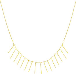 With love Necklace twinkling gold