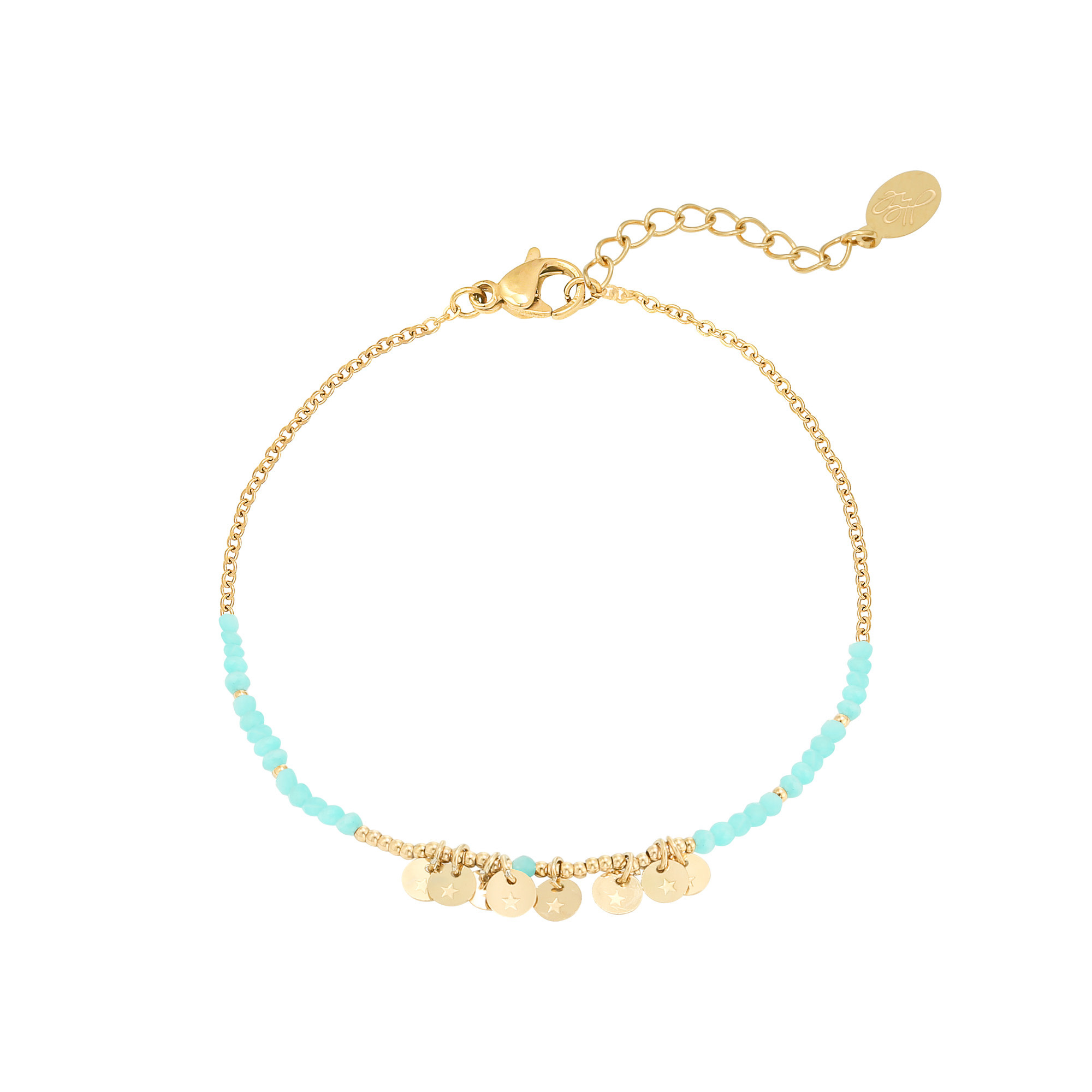 With love With love bracelet Ina - aqua gold