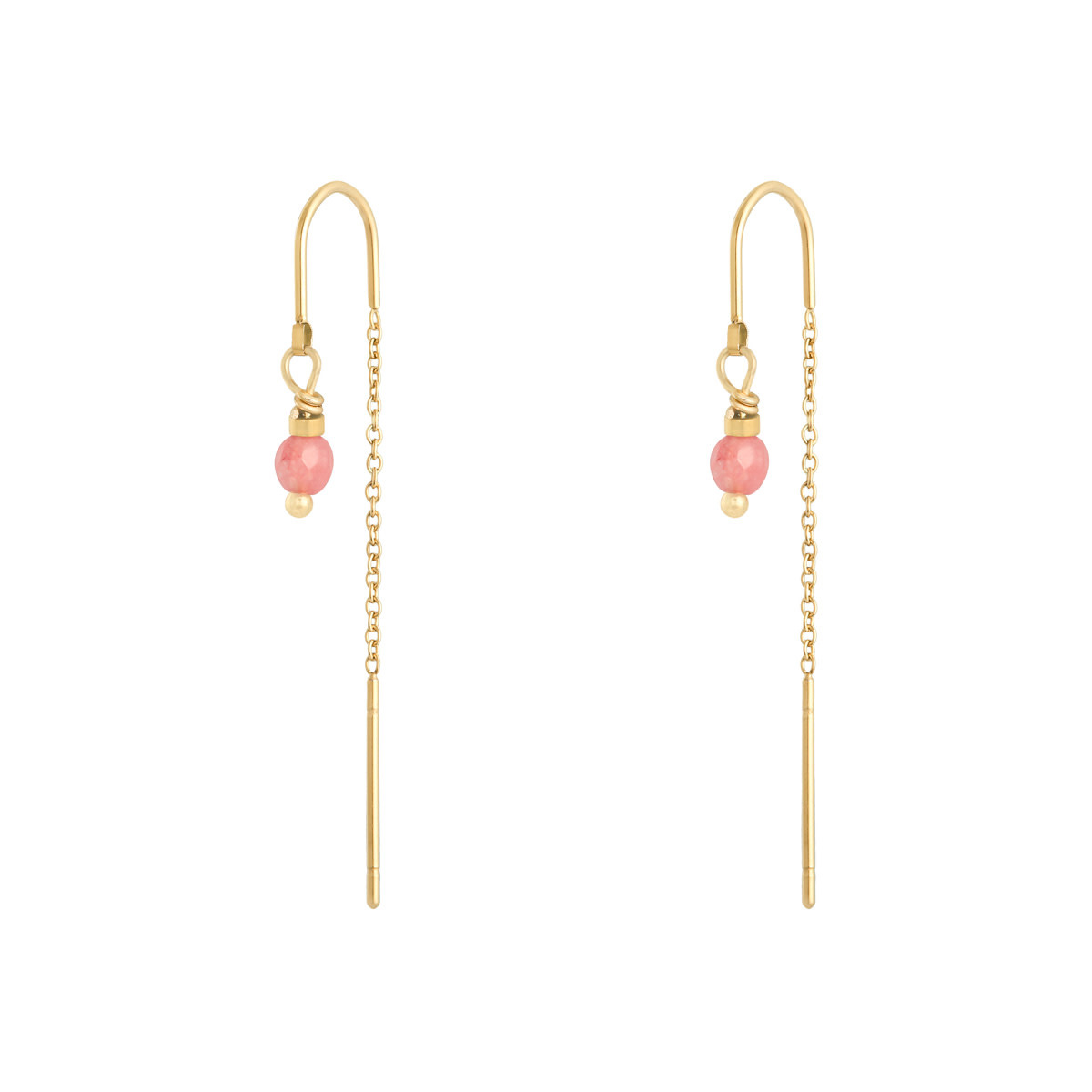 With love Earrings admiral - gold pink