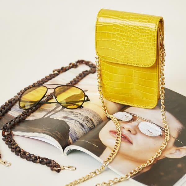 With love Bag croco on me - yellow 11.50cm x 4cm x 19cm