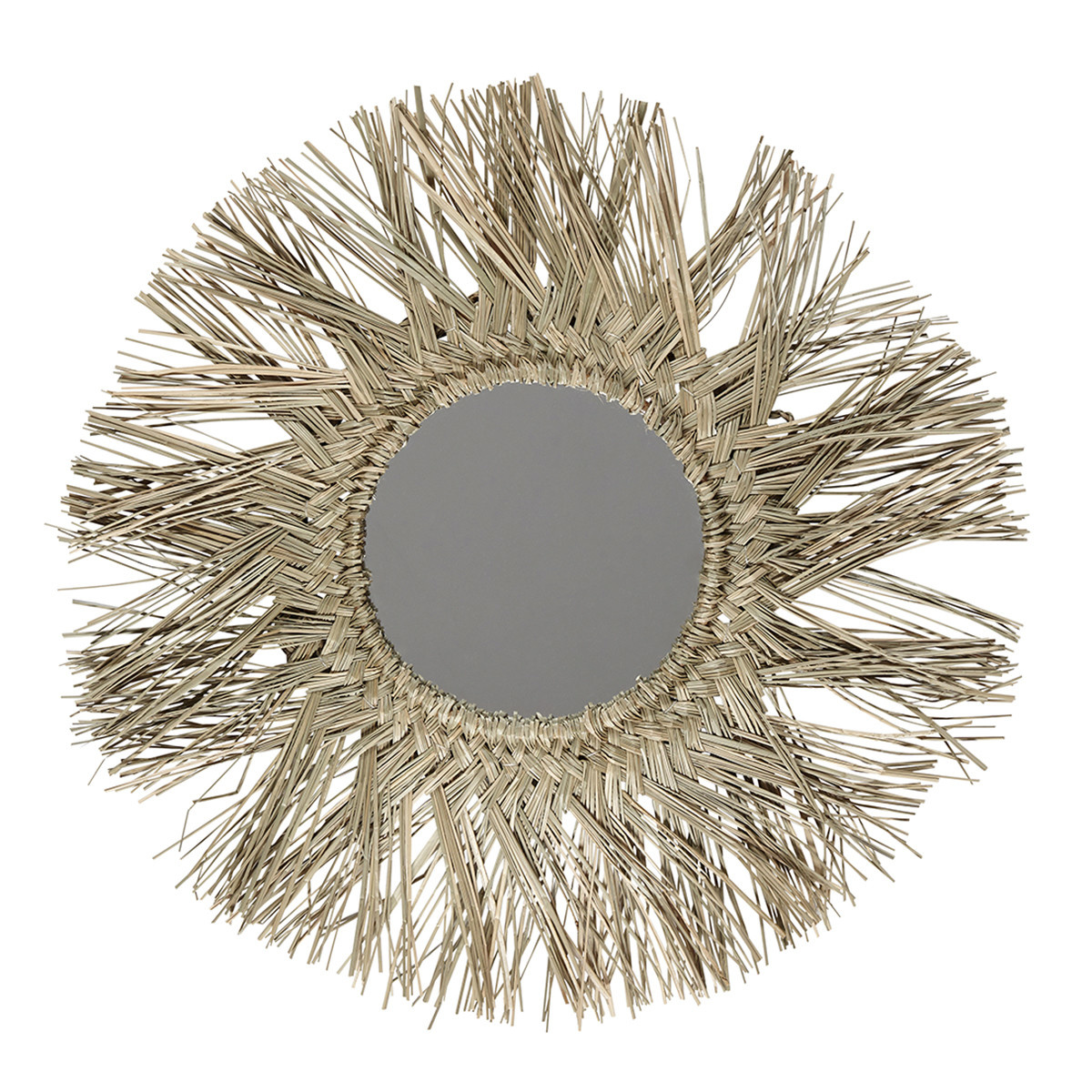 Liv Interior Mirror sea grass round dia 52 cm