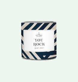 The Gift Label Candle tin 310 gr. - You rock - fresh cotton