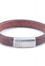 Steel & Barnett Leather bracelet Cornall - plain tan - Size L