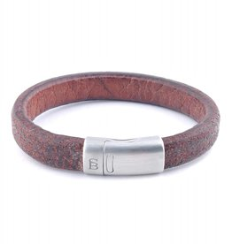Steel & Barnett Leather bracelet Cornall - plain tan - Size M