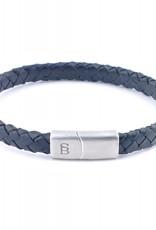 Steel & Barnett Leather bracelet Riley - Black - Size M