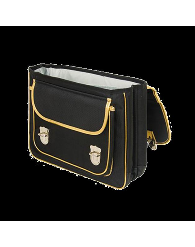 Caramel & cie Medium schoolbag Masque noir 38 x 31x12 cm