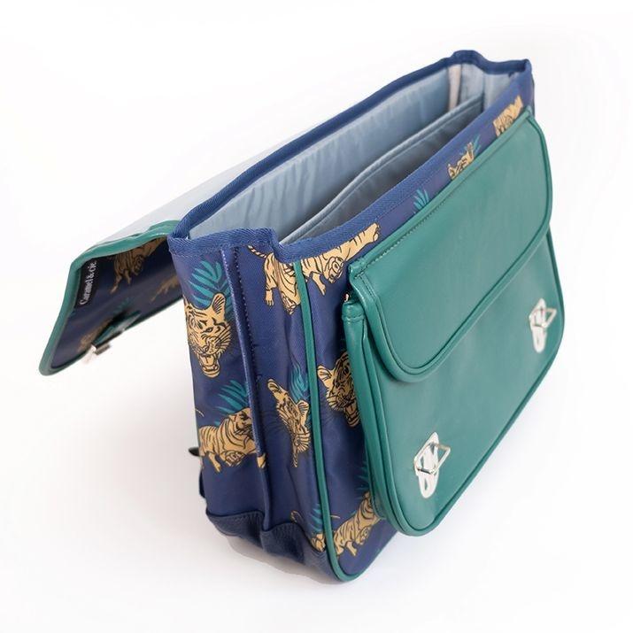 Caramel & cie Medium schoolbag Tigres du Bengale 38 x 31x12 cm