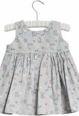 Wheat Pinaflora dress wrinkles - pearl blue flowers