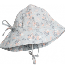 Wheat Baby girl sun hat - pearl blue flowers