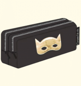 Caramel & cie Double pencil case Masque noir