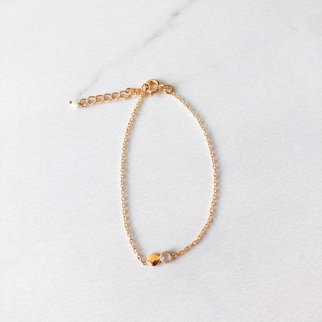 Détail bracelet Ambre moon stone (7337)