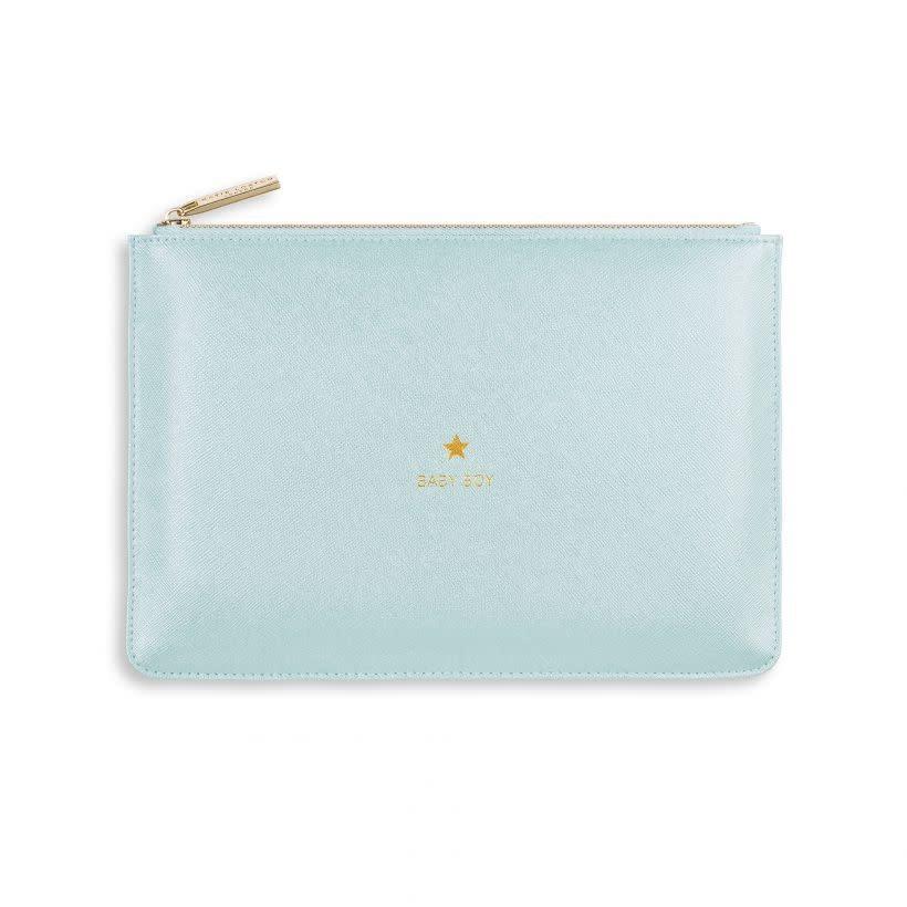 Katie Loxton Katie Loxton pouch - baby boy - metallic blue 24x16 cm