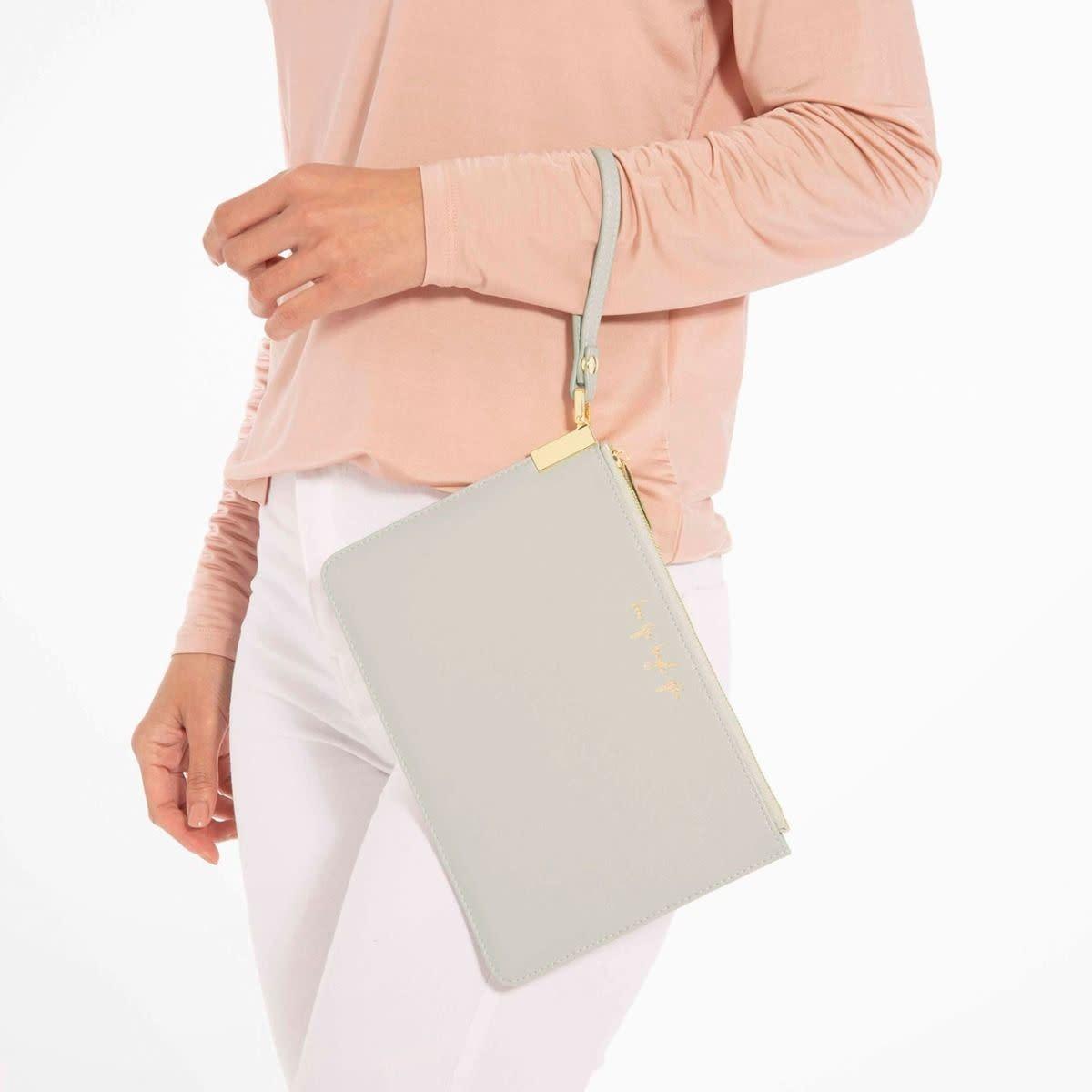 Katie Loxton Katie Loxton secret message pouch - To my fabulous friend - Pale grey- 16 x 24 cm