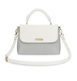 Katie Loxton Katie Loxton Talia two tone messenger bag - white & pale grey - 19.5 x 24.5 x 8 cm