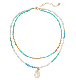 With love Necklace Spirited away aqua