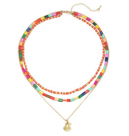 With love Necklace summer shells