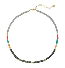 With love Necklace Cheer up your day grey