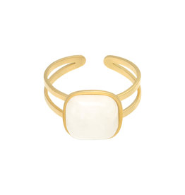 With love With Love ring - in nature white