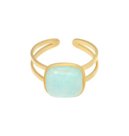 With love With Love ring - in nature aqua