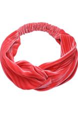 With love Headband rib velvet summer coral