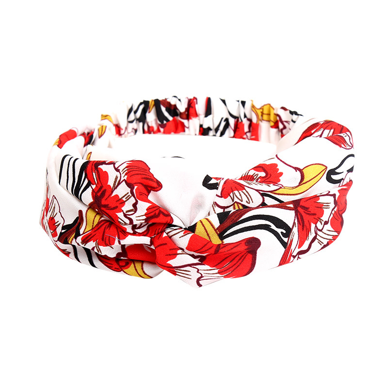 With love Headband happy flowers - red