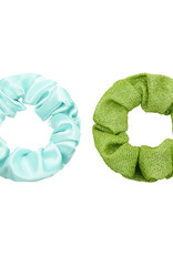 With love Set of 2 scrunchies green