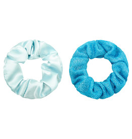 With love Set of 2 scrunchies turquoise