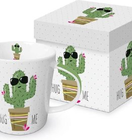 Paperproducts Design Trend mug in box 'Hug me cactus'