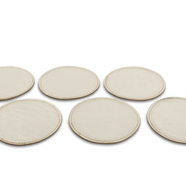 S&P Coaster set 6 pcs. gold 10 cm