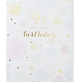 Papette Papette greeting card + enveloppe 'Yay, it's your birthday!'