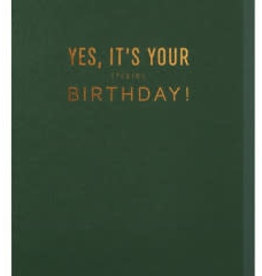 Papette Papette greeting card with enveloppe 'yes, it's your f*cking birthday'